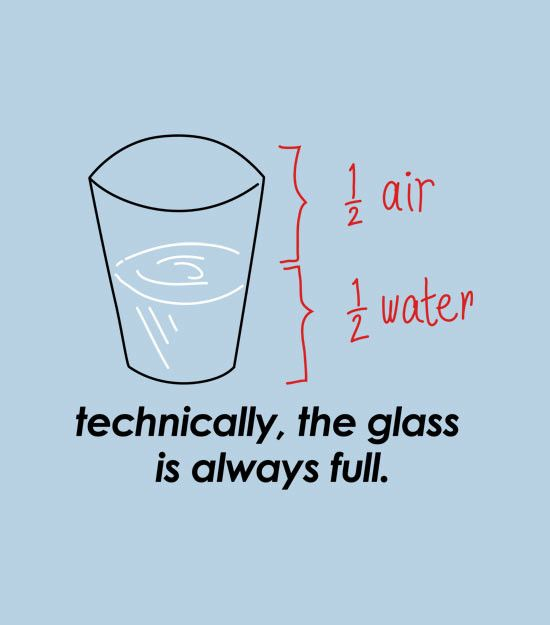 glass always full